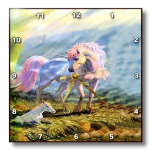 Unicorn With Baby - 10x10 Wall Clock