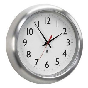 Umbra Station Aluminum Wall Clock